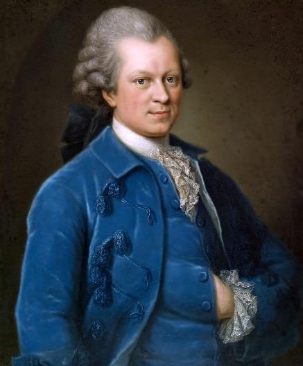 1729-1781 Freimaurer und Jude Gotthold Ephraim Lessing. Schriftsteller. Hamburger Freimaurerloge 'Zu den drei Rosen'