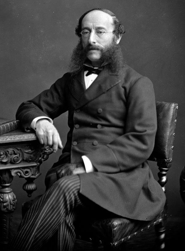 1816-1899 Jude Israel Beer Josafat (Tarnname Paul Julius Freiherr von Reuter). Deutscher Unternehmer und Gründer der Nachrichtenagentur