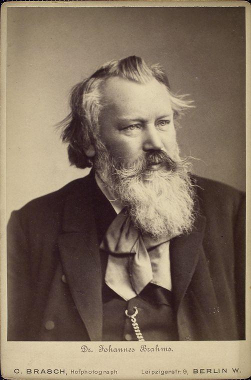 1833-1897 Freimaurer Johannes Brahms. Komponist und Dirigent