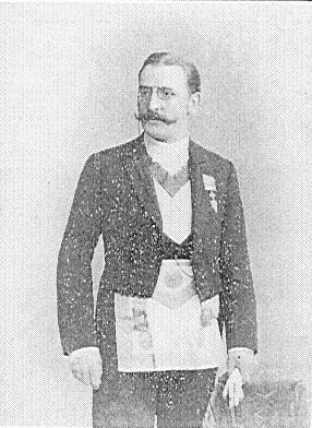 1855-1923 Freimaurer und Rosenkreuzer Theodor Reuss. Okkultist, Theosoph und Illuminat