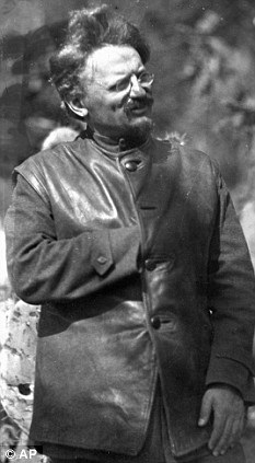 1879-1940 Freimaurer und Jude Lev Davidovich Bronstein (Tarnname Leon Trotski). Russischer Kommunist