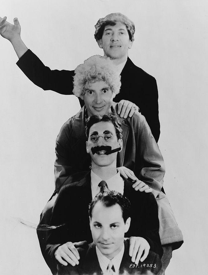 1887 Freimaurer und Juden Marx Brothers (eigentlich Marix). Amerikanische Komiker