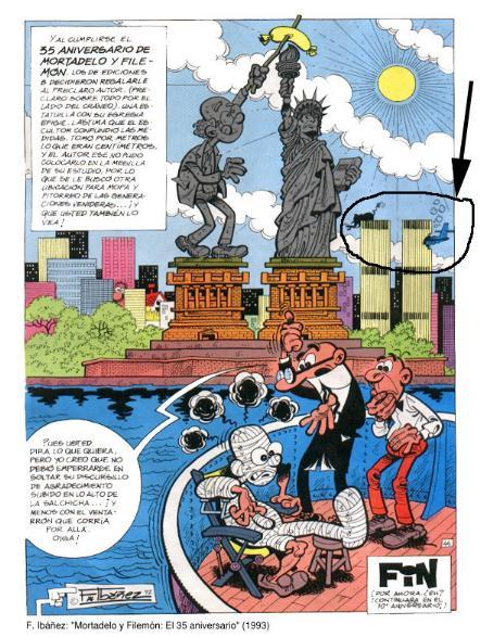 1993 - Im Comic 'Clever und Smart' der Ausgabe 'El 35 Aniversario' steckt ein Flugzeug in einem WTC-Turm