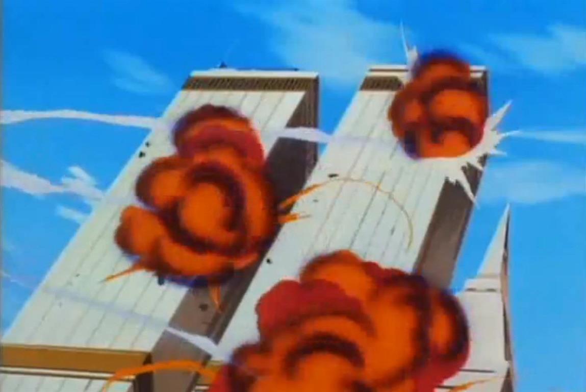 1994 - Der TV-Cartoon Iron Man. Anti-Amerikanische Terroristen mit einer Basis in Zentralasien sind die Flugzeugentführer.