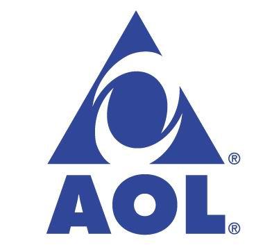 AOL-Logo mit Pyramide und Allsehendem Auge. Wird AOL ausgesprochen klingt es so wie Owl (Eule)