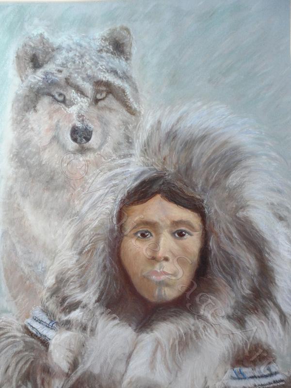 Amarok ist in der Inuit-Mythologie ein großer Wolf
