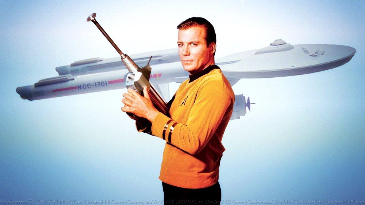 Captian Kirk (schottisch, Kirche) und seine Enterprise (Unternehmen). Die Kirche und ihr Illuminati-Unternehmen. Die Illuminati benutzen, laut Fritz Springmeier, unter anderem Star Wars und Star Trek zur Mind-Control-Programmierung ihrer eigenen Angehörigen.