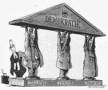 Demokratie - 'Demo' (lat., Ich nehme weg) 'kratie' (griech., Herrschaft)