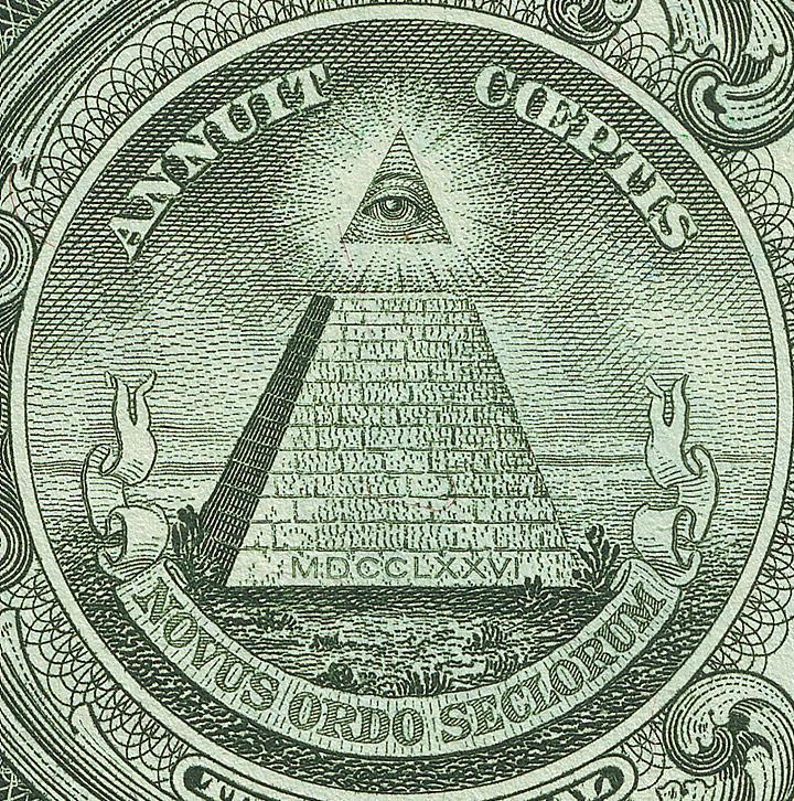 Dollarnote mit Pyramide