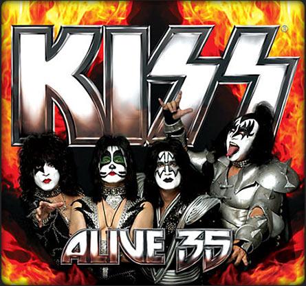 Kiss - Albumcover 'Alive 35' - mit den Nazi SS-Runen der Göttin Isis