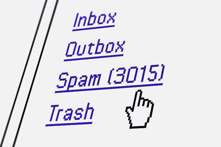 Spam-Mails (grau)