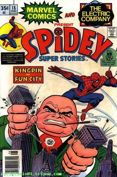 1976 - Spiderman-Comic. Ein Bösewicht zerquetscht mit seinen Händen die beiden World Trade Center Türme. Der Bösewicht sieht nicht wie Osama Bin Laden aus...