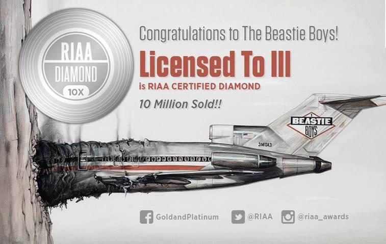 1987 - Beastie Boys debütieren mit dem Album 'Licensed To Ill'. 'Ill' ist eine Anspielung auf Illuminati oder auf kill (deutsch, Amtlich zugelassen zu töten)...