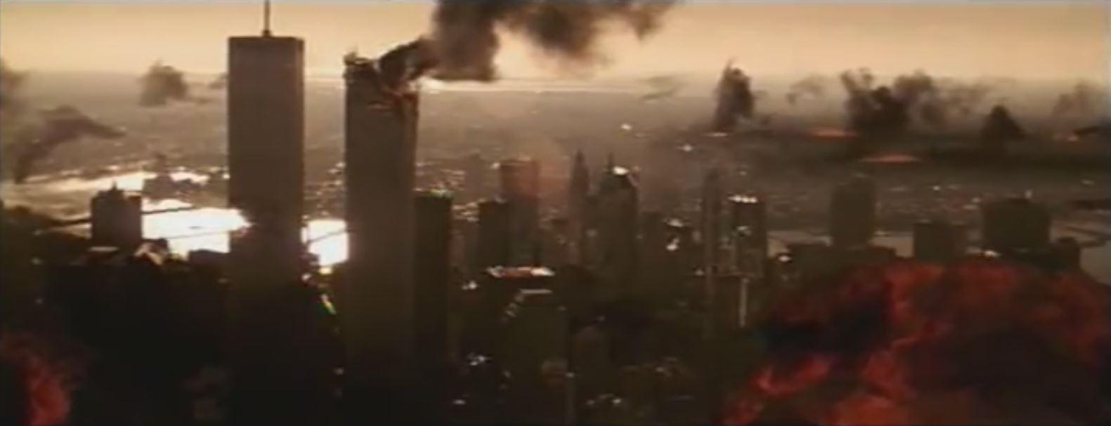 1998 - Im Film Armageddon - Das jüngste Gericht wird das World Trade Center von einem Meteoritenschauer getroffen. Kurz vorher spricht ein Taxifahrer von einer Terroristenbombe.