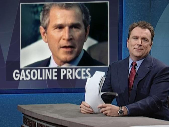 2000 - Saturday Night Live (1). In der amerikanischen Comedy-Sendung wurden fünf aufeinander folgende Nachrichten verlesen, die alle etwas mit dem späteren Terroranschlag zu tun hatten. George W. Bush