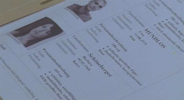 2004 - Auf der Requisitenseite dieser Krimiserie kommen auch Uwe Mundlos und Beate Zschäpe vor. Bei Zschäpe wurde allerdings nur die Personenbeschreibung, der Geburtstag und der Geburtsmonat übernommen.