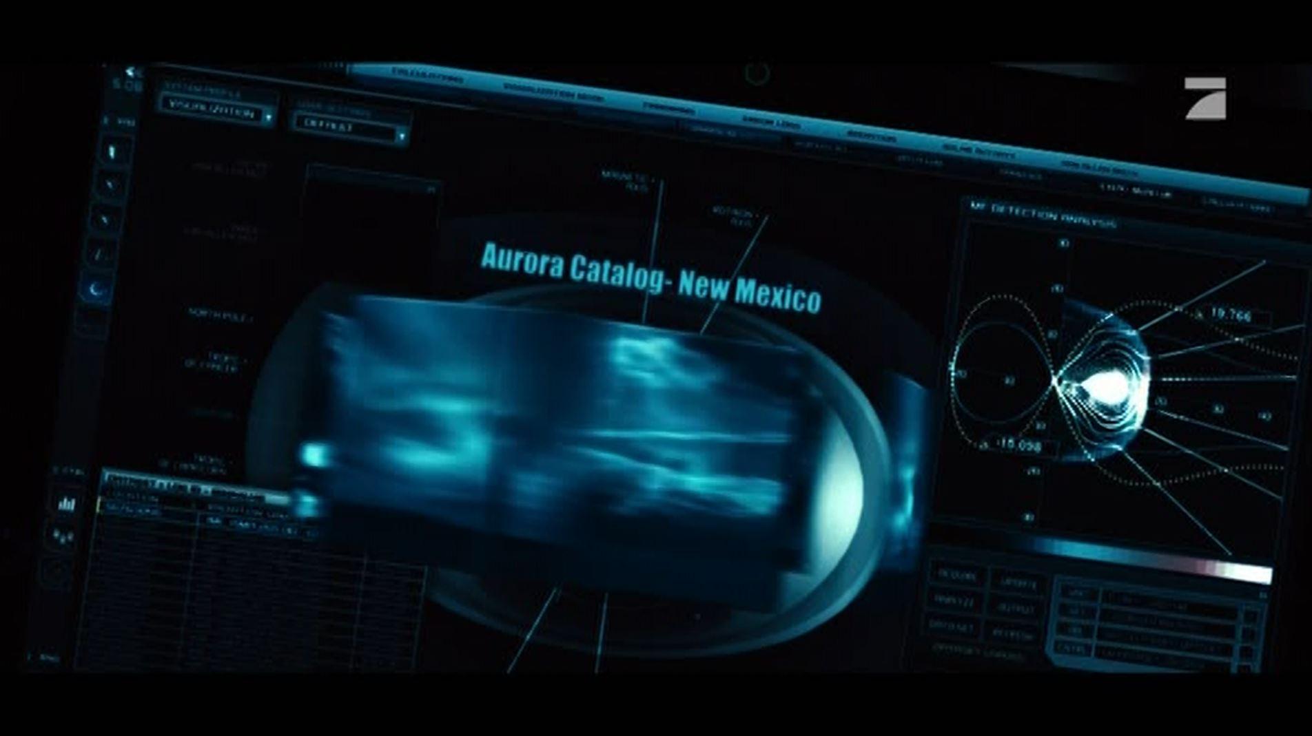 2011 - Spielfilm Thor - Computermonitor mit der Aufschrift 'Aurora Catalog New Mexico' (Minute 1.46). Die Göttin Aurora ist die Mutter Lucifers. Alles klar, Herr Kommissar?