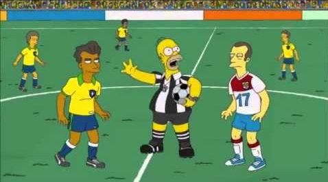 2014 - In der 16. Episode der 25. Staffel Die Simpsons treten die Mannschaften Brasilien und Deutschland gegeneinander im WM-Finale an. Die Sendung wurde 106 Tage vor dem echten WM-Finale ausgestrahlt. Es geht in der Folge um bestechliche Schiedsrichter. Die deutsche Fußballmannschaft gewinnt das Finale.
