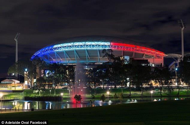 Illuminierte Gebäude - Australien, Adelaide Oval