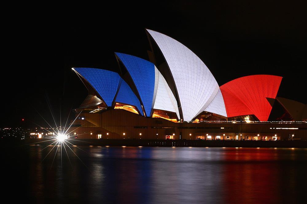 Illuminierte Gebäude - Australien, Sydney Opernhaus