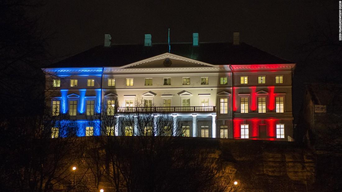 Illuminierte Gebäude - Estland, Tallin, Regierungsgebäude
