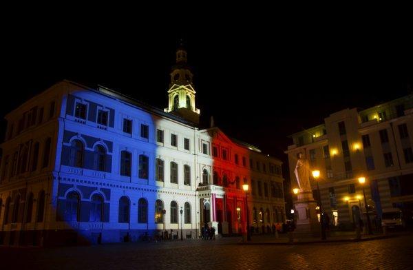 Illuminierte Gebäude - Lettland, Riga