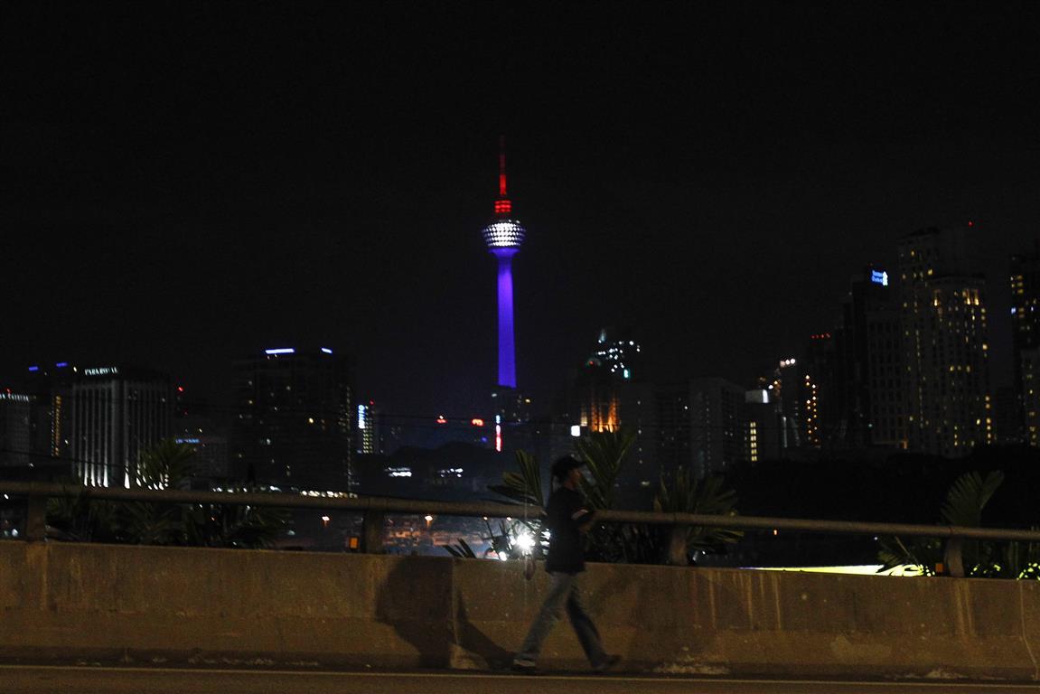 Illuminierte Gebäude - Malaysia, Kuala Lumpur Tower