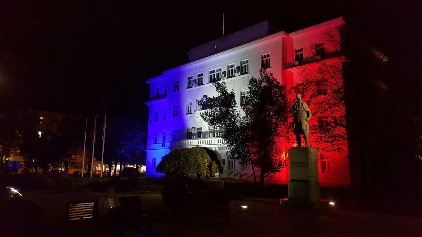 Illuminierte Gebäude - Montenegro, Podgorica