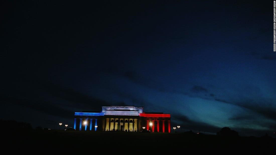 Illuminierte Gebäude - Neuseeland, Auckland, Auckland Museum