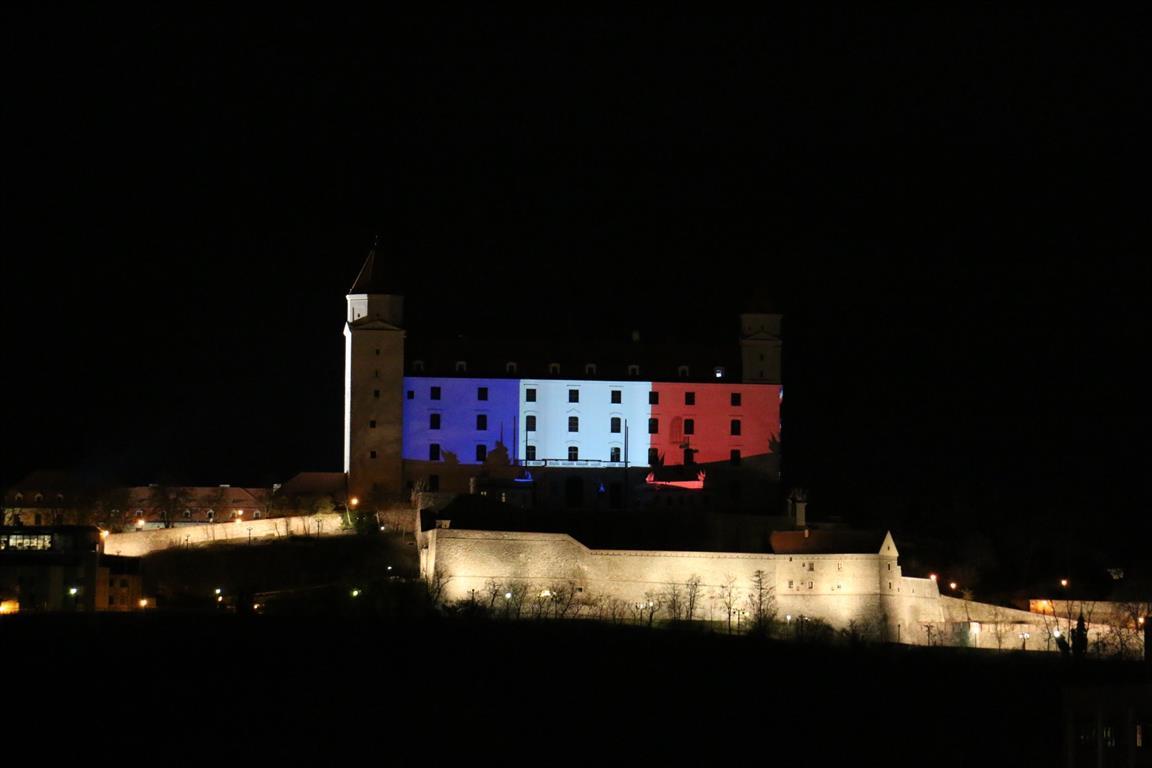 Illuminierte Gebäude - Slovakei, Bratislava