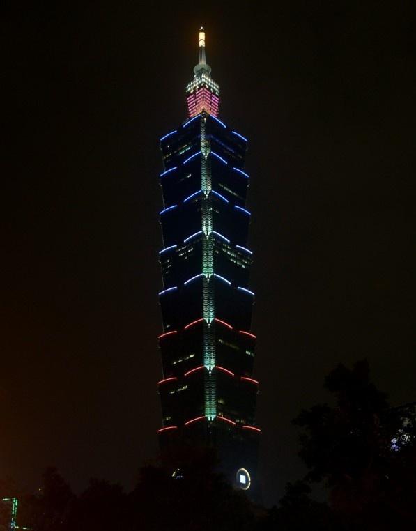Taiwan, Wolkenkratzer Taipei 101