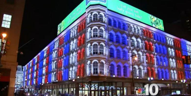 Illuminierte Gebäude - USA, Pennsylvania, Philadelphia