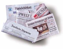 Verschieden Tageszeitungen