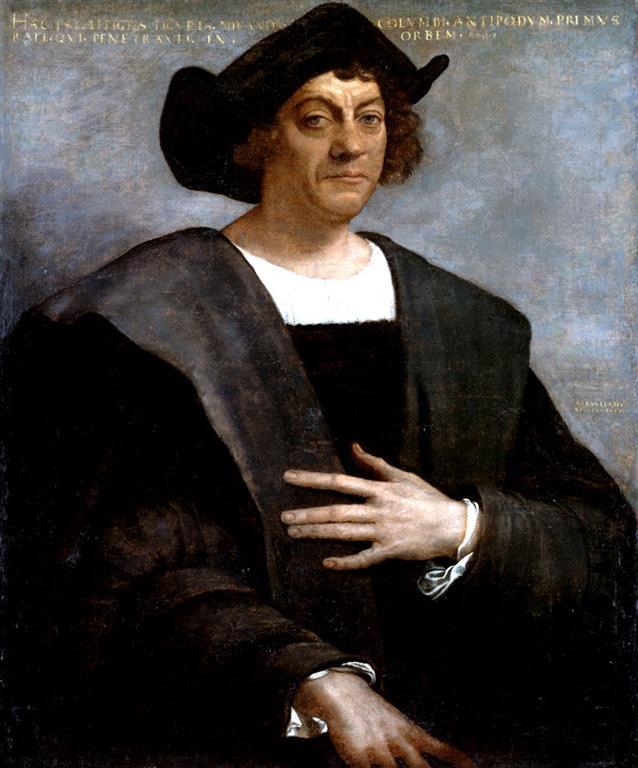 1451-1506 Jude Christopher Columbus. Entdecker Amerikas. Wurde nicht in Genua, sondern in Cuba, einer portugiesischen Kleinstadt geboren