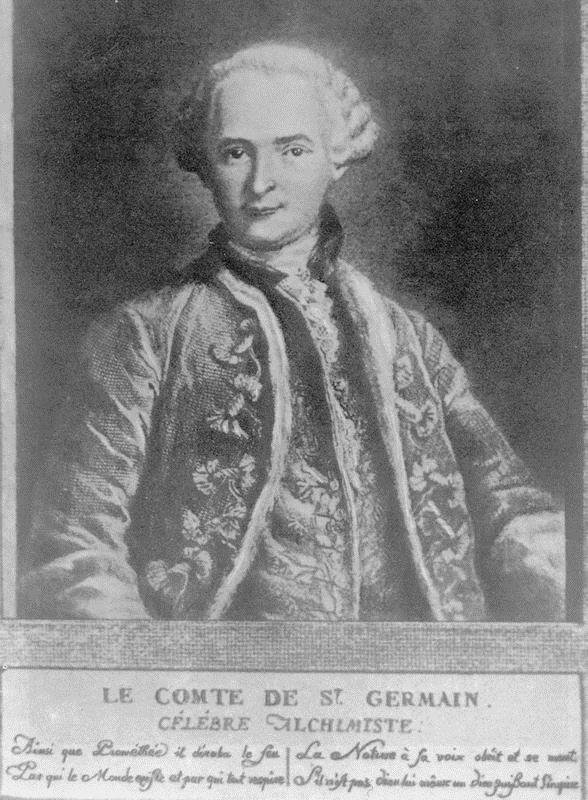 1710-1784 Freimaurer und Rosenkreuzer Graf von Saint Germain. Alchemist und Okkultist