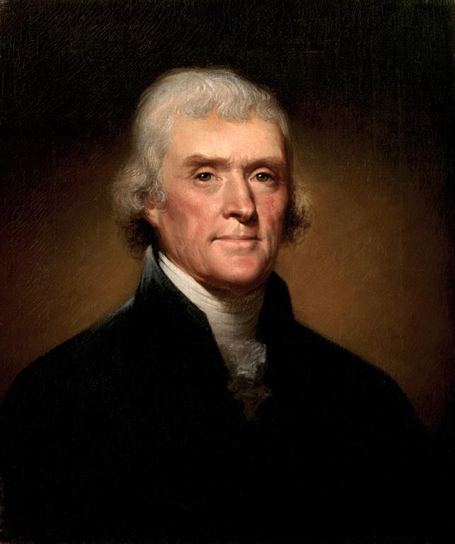 1743-1826 Freimaurer Thomas Jefferson. Der 3. Präsident der USA, Verfasser der amerikanischen Unabhängigkeitserklärung. Freimaurerlogen 1817 Charlottesville Lodge No. 90, Paris Nine Muses, Hellfire Club und Illuminatenorden.