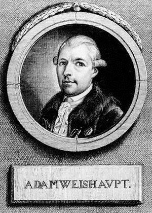 1748-1830 Freimaurer und Jesuit Adam Weishaupt. Freimaurerloge in München Zur Behutsamkeit und Theodor zum guten Rat. Gründer des bayrischen Illuminatenzweiges.