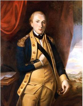 """1757-1834 Freimaurer Marquis de Lafayette. Französischer General und Revolutioär. Freimaurerloge 1776 in Morristown, USA und in Frankreich """"Contrat Social"""" und Paris """"Les Neuf Sœurs""""."""
