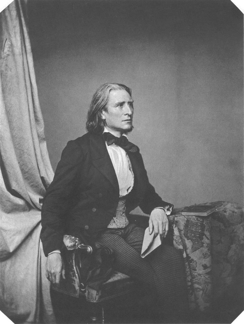 1811-1886 Freimaurer Franz Liszt. Musiker. Freimaurerlogen 1841 Frankfurt Zur Einigkeit, 1842 Berlin Zur Eintracht und 1845 Zürich Modestica cum Libertate.