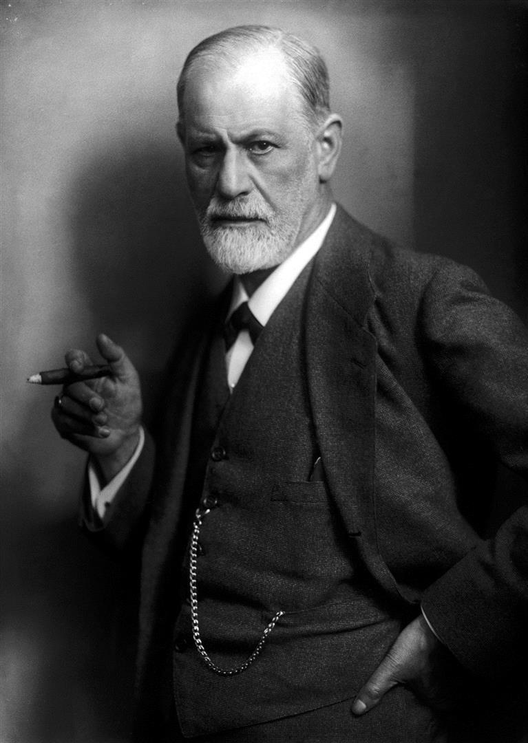 1856-1939 Freimaurer und Jude Sigmund Freud. Schriftsteller und Psychoanalytiker. Freimaurerloge 1899 Wien 'B'nai-Brith'