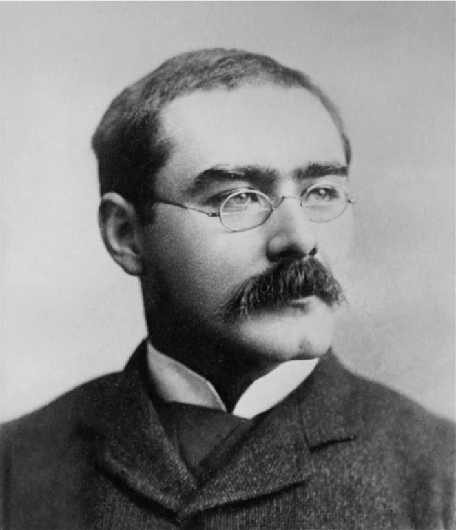 1865-1936 Freimaurer Rudyard Kipling. Britischer Schriftsteller. Literaturnobelpreisträger. Schrieb die Bücher Das Dschungelbuch und Der Mann der König sein wollte (Freimaurerroman).