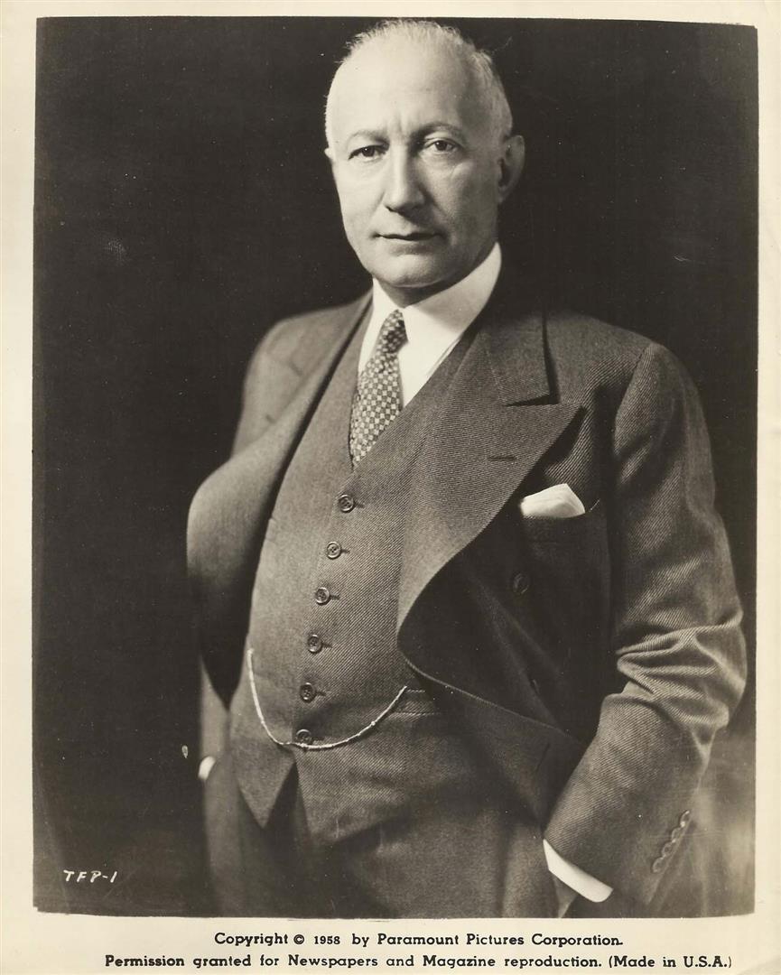 1873 Freimaurer und Jude Adolph Zukor. Filmschaffender. Gründer von Paramount Pictures. Freimaurerloge New York 'Centennial Lodge No. 763'