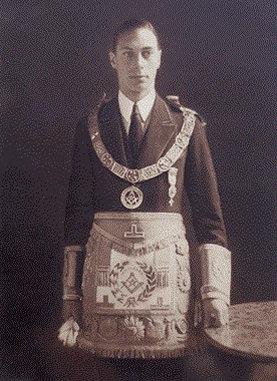 1895-1952 Freimaurer King George VI aus dem englischen Hause Windsor, eigentlich Sachsen-Coburg und Gotha. Freimaurerloge 1919 Navy Lodge, No. 2612.