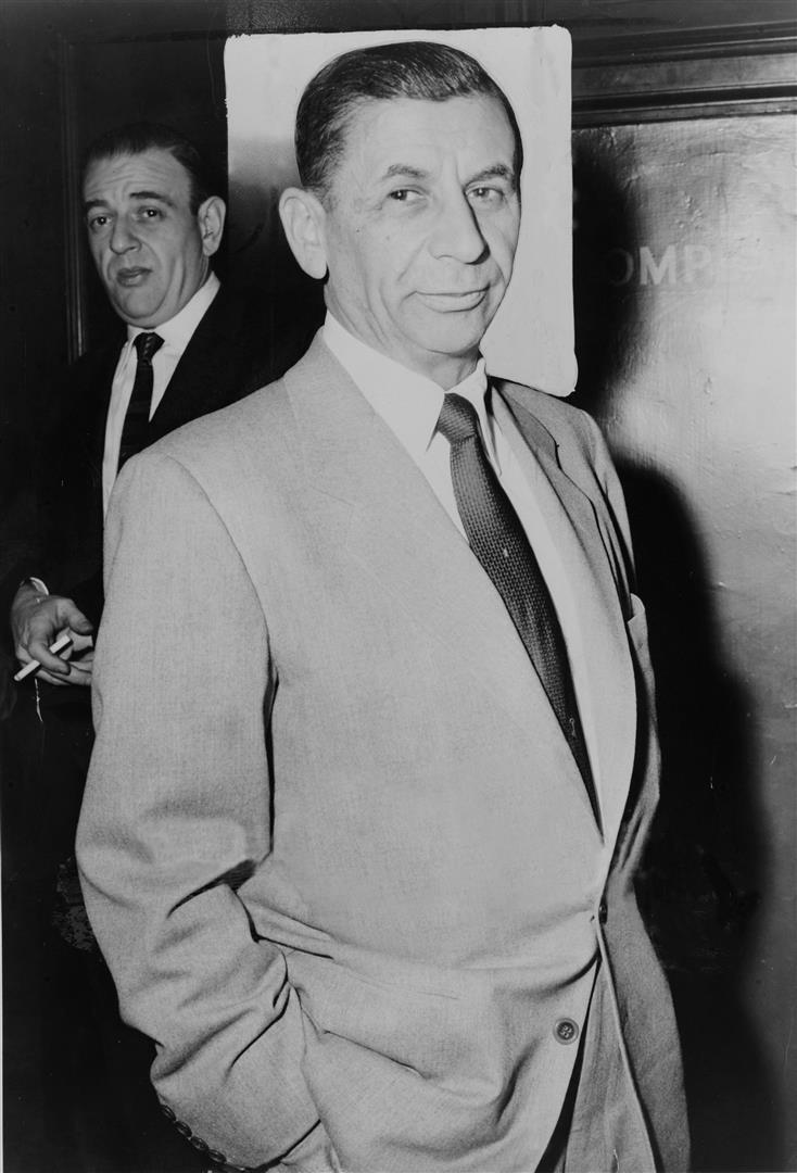 1902-1983 Jude Meyer Lansky - Boss der Kosher Nostra, der jüdischen Mafia in New York. Die staatlichen Behörden erachteten es nicht für notwendig ihn zu bestrafen.