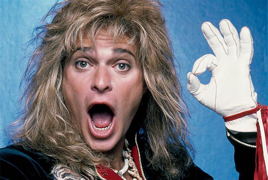 1954 Jude David Lee Roth. Amerikanischer Musiker. Sänger der Rockband Van Halen.
