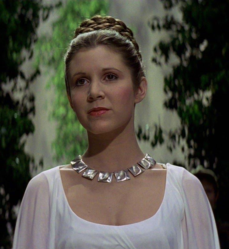 1956 Jüdin Carrie Fisher. Schauspielerin. Sie spielte die Prinzessin Leia in Star Wars.