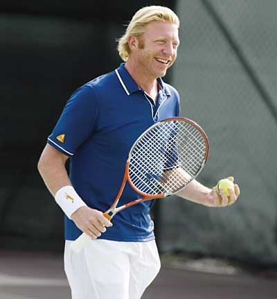 1967 Jude Boris Becker. Tennisspieler. Interviewzitat 'I have from my mother's side Jewish background, from my father's side a very Catholic background'