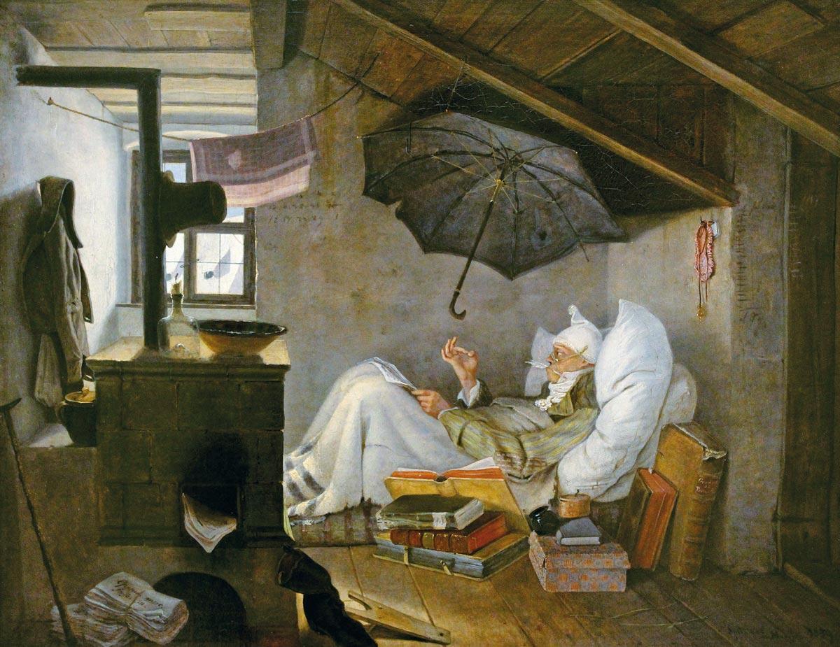 Carl Spitzweg - Der arme Poet (1839)
