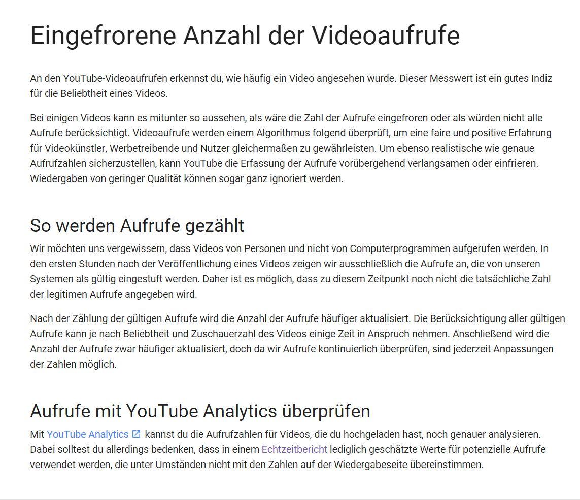 Klickbetrug - Youtube manipuliert die Zahl der Videoaufrufe und verkündet es auch noch offiziell.