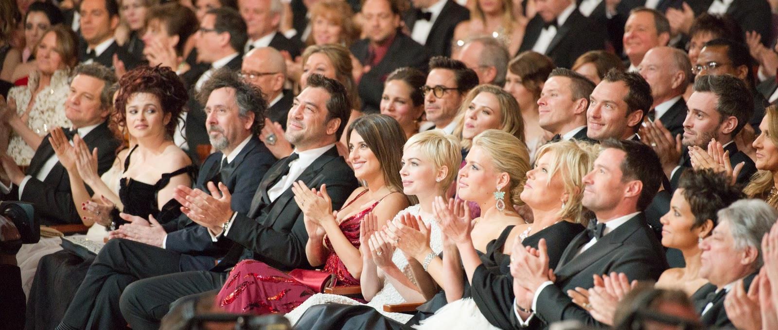 Prominente Zuschauer der Oscarverleihung 2015